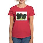 Black Frizzle Cochins Women's Dark T-Shirt