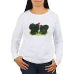 Black Frizzle Cochins Women's Long Sleeve T-Shirt