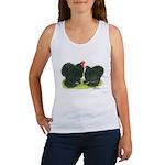 Black Frizzle Cochins Women's Tank Top