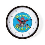 Masonic Bike Riders Wall Clock
