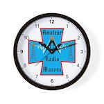 Amateur Radio Masons Wall Clock