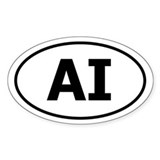 AI (American Indian) Oval Decal