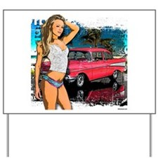 57 Chevy Girl Yard Sign