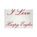 I Love Harpy Eagles Rectangle Magnet