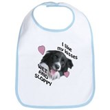 border collie kisses Bib