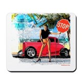 Hot Rod Girl Mousepad