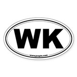 WK Oval Decal
