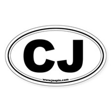 CJ Oval Decal