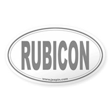 Rubicon Oval Decal