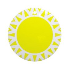 Yellow Sun Ornament (Round)