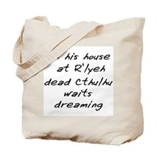House at R'yleh (Large) Tote Bag