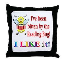 Reading Bug Throw Pillow