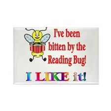 Reading Bug Rectangle Magnet (10 pack)