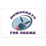 Democrat Donkey Large Poster