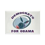 Democrat Donkey Rectangle Magnet (100 pack)