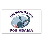 Democrat Donkey Rectangle Sticker 50 pk)