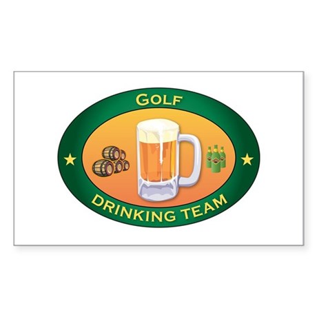 Golf Team Rectangle Sticker