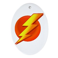 Superhero Oval Ornament