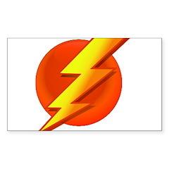 Superhero Rectangle Sticker 50 pk)
