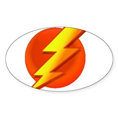 Superhero Oval Sticker (50 pk)