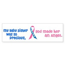 SIDS Angel 1 (Baby Sister) Bumper Sticker (50 pk)