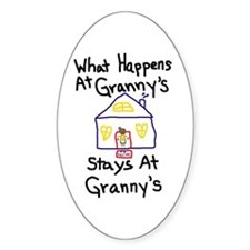 Granny's House Oval Decal