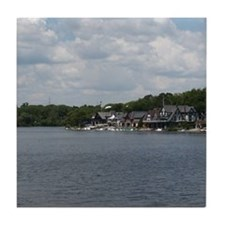Philadelphia Tile Coaster: Boathouse Row