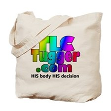 TLC Tugger Rainbow Logo Tote Bag