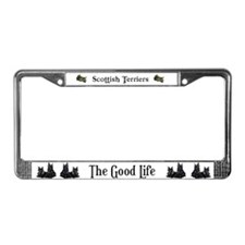 Eco Friendly Scottish Terrier License Plate Frame
