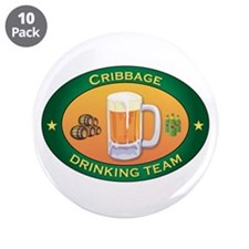 "Cribbage Team 3.5"" Button (10 pack)"