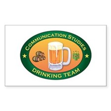Communication Studies Team Rectangle Decal