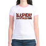 Blasphemy No Crime Jr Ringer T-Shirt