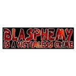 Blasphemy No Crime Bumper Sticker