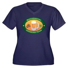 Biochemistry Team Women's Plus Size V-Neck Dark T-