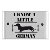 Nice Dachshund Rectangle  Aufkleber
