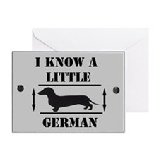 Nice Dachshund Greeting Card