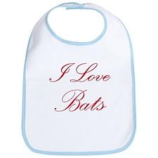 I Love Bats Bib