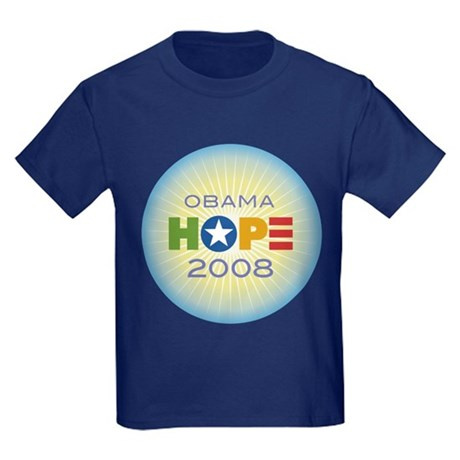 Obama Hope Circle Kids Dark T-Shirt