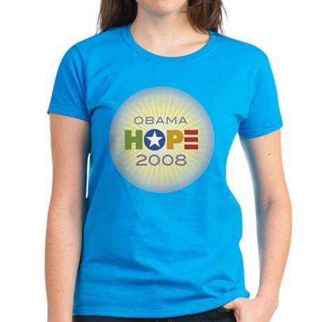 Obama Hope Circle Women's Dark T-Shirt