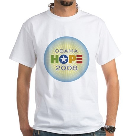 Obama Hope Circle White T-Shirt