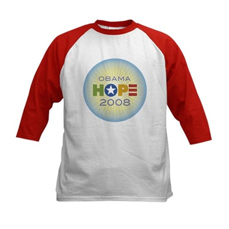 Obama Hope Circle Kids Baseball Jersey