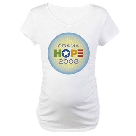 Obama Hope Circle Maternity T-Shirt