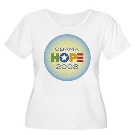 Obama Hope Circle Women's Plus Size Scoop Neck T-S