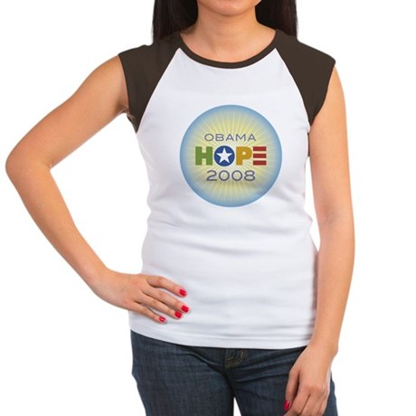 Obama Hope Circle Women's Cap Sleeve T-Shirt