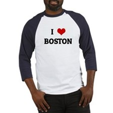 I Love BOSTON Baseball Jersey