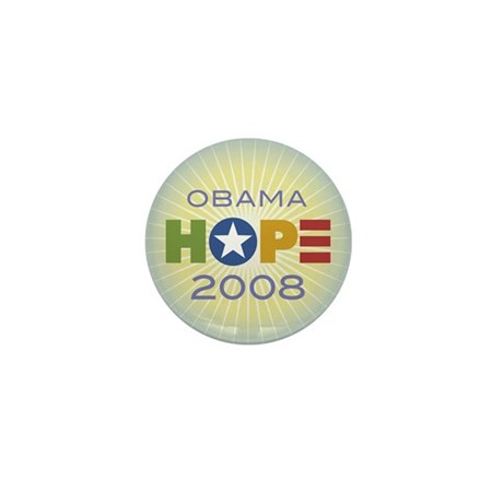 Obama Hope Circle Mini Button