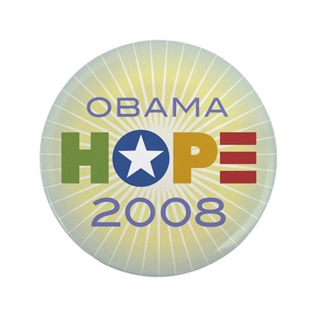 "Obama Hope Circle 3.5"" Button"
