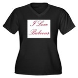 I Love Baboons Women's Plus Size V-Neck Dark T-Shi