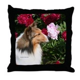 Sable Flower Throw Pillow