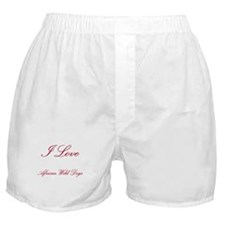 I Love African Wild Dogs Boxer Shorts